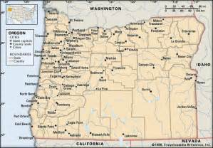 map of cities in oregon oregon cities encyclopedia children s homework