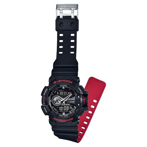 Casio Gshock Ga400 Redgrey casio g shock ga 400hr 1ajf black series