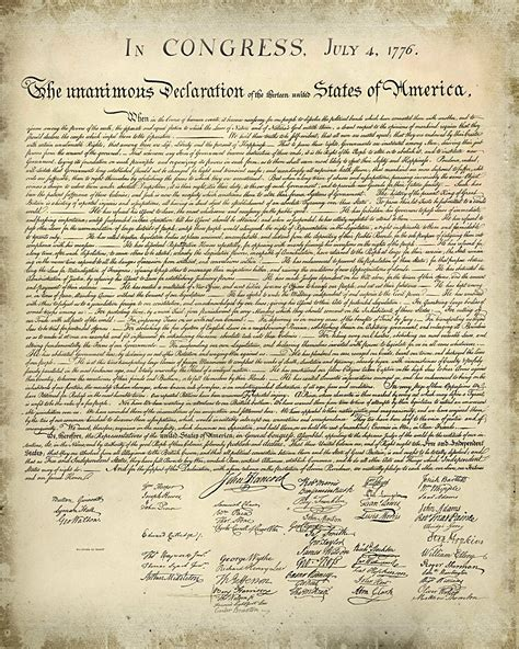 Printable Declaration Of Independence | just sweet and simple free printable united states