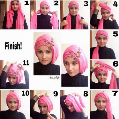 tutorial gambar jilbab aneka cara memakai jilbab untuk kebaya 2016 kumpulan