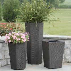 square resin wicker vista planter planters at hayneedle