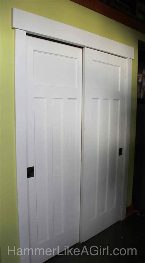 Bypass Sliding Closet Doors by Using Salvaged Doors In A Remodel Part 1 Hammer Like A Girlhammer Like A