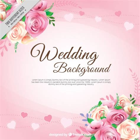 Wedding Backdrop Vector Free by Realistic Roses With Leaves Wedding Background Vector