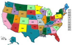maps usa map color