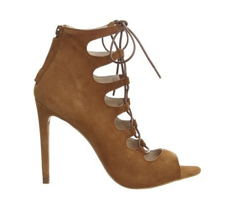 lace up high heel sandals office parisian lace up high heel sandals in brown