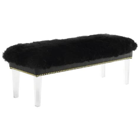 sheepskin bench sheepskin puff bench modern furniture brickell collection