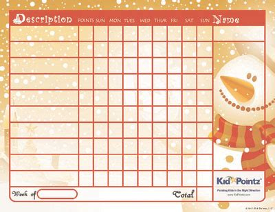 printable christmas reward charts kids printable chart chirstmas theme kid pointz