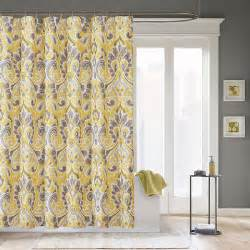 Brighten up your bathroom with a yellow shower curtain home