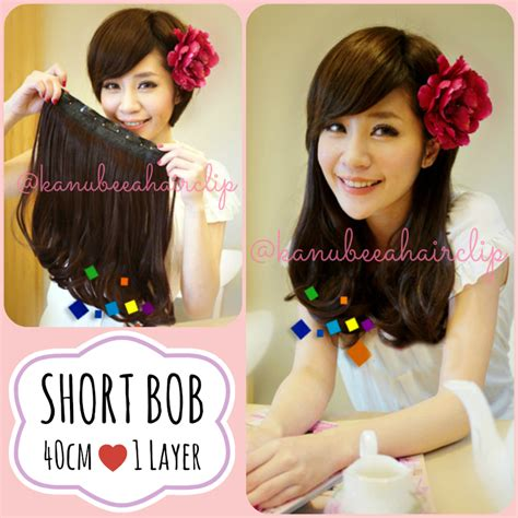 Hair Extension Korean Wave Hairclip Hair Clip Hair Clip Extension 1 Layer Big Layer Hair Clip Murah