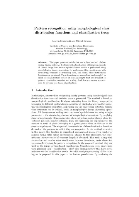 classification pattern essay pattern recognition using morphological pdf download