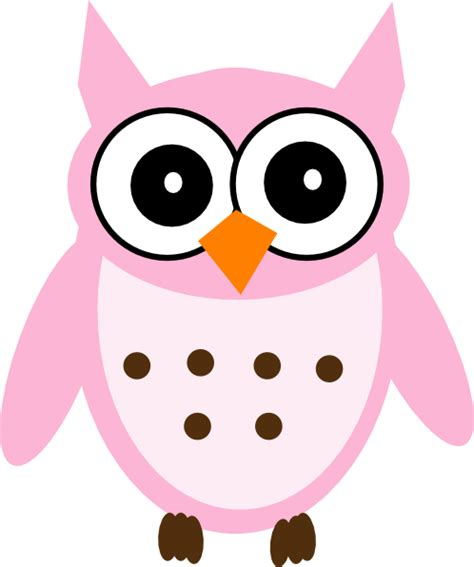 Clipart Of Owls pink owl clip at clker vector clip