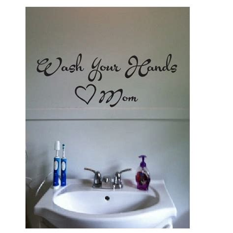 bathroom sink decals wall quote sign vinyl decal sticker multiple sizes