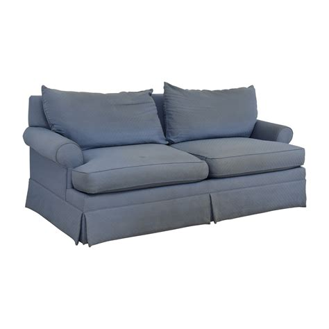 two cushion sofa 90 ethan allen ethan allen blue two cushion sofa