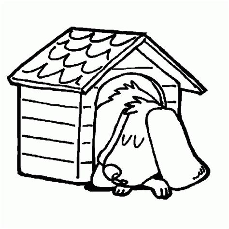 how to color a house dog house coloring page coloring home