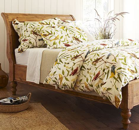 potterybarn bedding bird motif bedding spring decorating idea from pottery barn