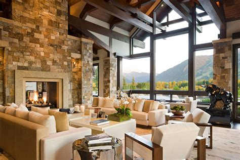Mountain Homes Interiors gorgeous luxury home with staggering view over aspen