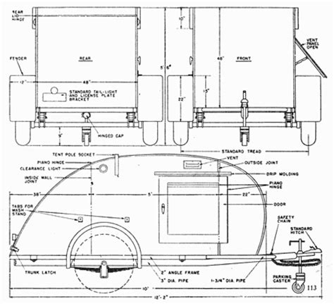 teardrop cer floor plans shoptalk teardrop trailer for two woodies