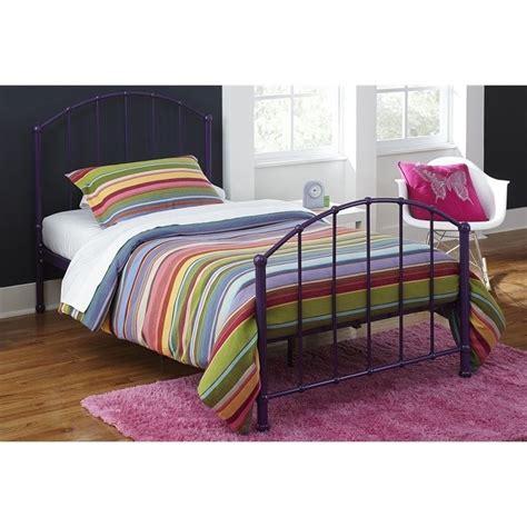 purple twin bed metal twin bed in purple 3294096