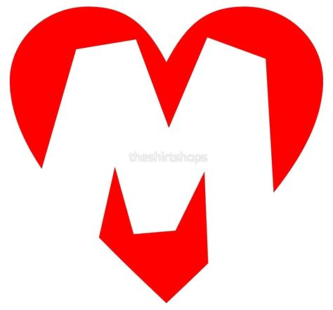 """I love M - Heart M - Heart with letter M"" by ... M Letter In Heart"