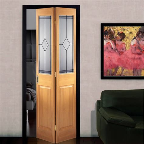 Interior Bifold Glass Doors Interior Bifold Door Oak Bi Fold With Marbury Design Safety Glass