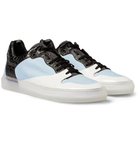 balenciaga sneakers for balenciaga panelled sneakers in blue for lyst