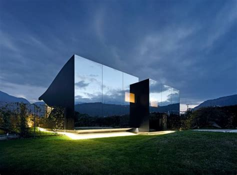 Contemporary Home Exteriors Design by Something To Reflect On Mirrored Houses How To Spend It