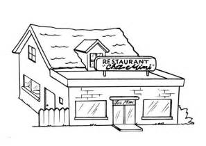 Coloring Page Restaurant  Img 8204 sketch template