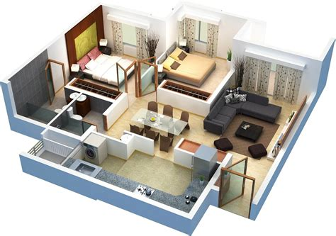 2 bhk flat design o shaped house plans with center courtyard