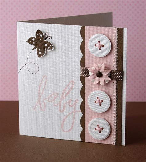 baby cards to make baby button card pinned from adding to my card