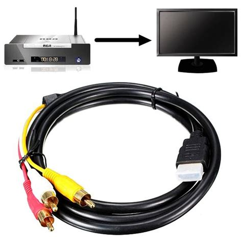 hdmi to 3 rca audio av adapter cable 1 5m hdmi to 3 rca audio converter component av