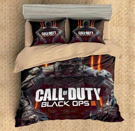 call of duty bedding set custom 3d call of duty black ops 3pcs duvet cover set