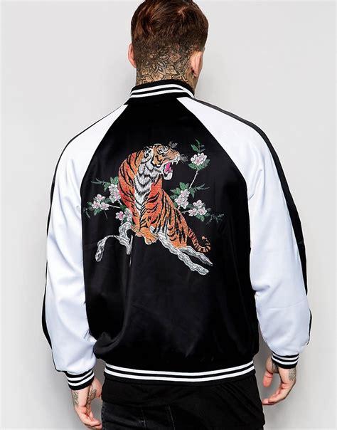 jacket design back jaded london jaded london souvenir bomber jacket with