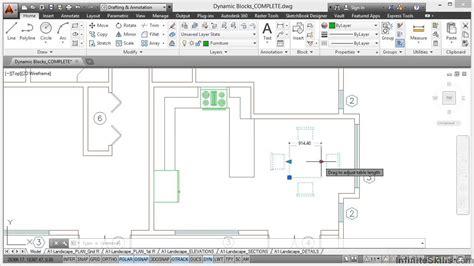 tutorial autocad dynamic blocks autocad construction drawings tutorial dynamic blocks