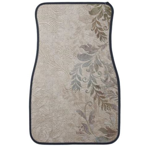 Floral Car Floor Mats by Rustic Embossed Vintage Floral Floor Mat From Zazzle