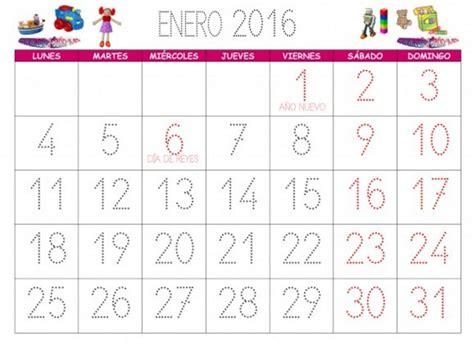 El Calendario A O Calendario Enero 2016 Para Imprimir Gratis