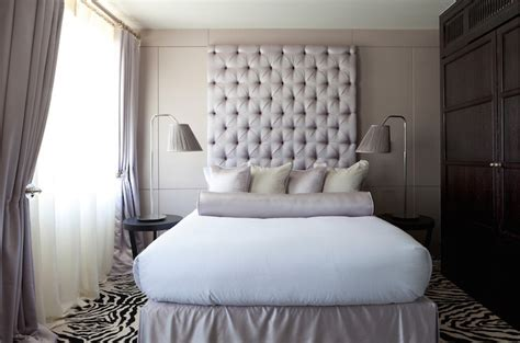 tall grey headboard tall tufted headboards modern bedroom purple design