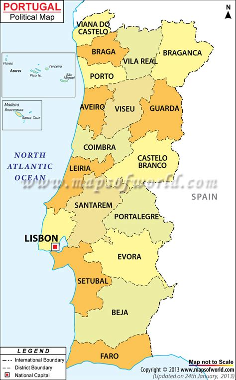 map of azores political map of portugal portugal districts map