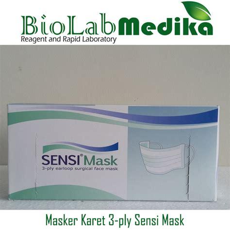 Masker Merk Sensi masker karet 3 ply sensi mask biolab medika