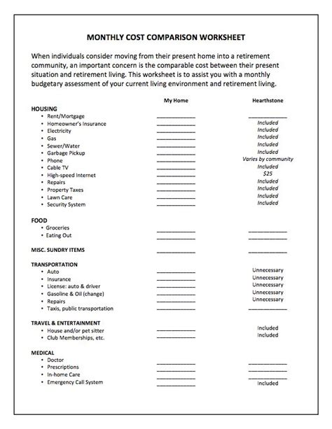 Cost Comparison Worksheet by 24 Tax Calculation Worksheet Lesupercoin Printables