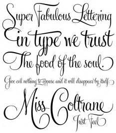 Fancy lettering for tattoos