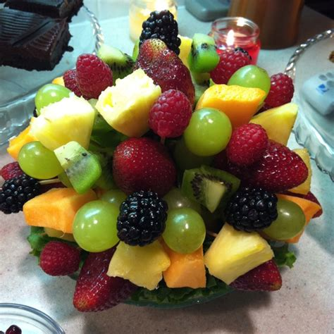 fruit arrangements diy diy edible arrangement using a half a grapefruit in the bowl as the base for the toothpicks