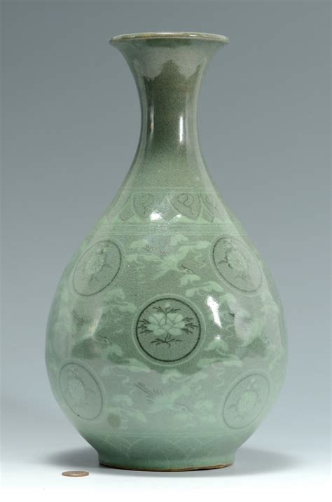Korean Celadon Vase by Lot 3383177 Korean Celadon Glazed Vase