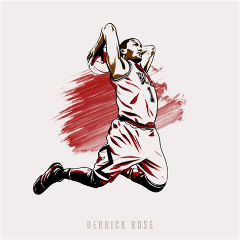 Rugs Okc Derrick Rose Art Print By A Spectacular Move Society6