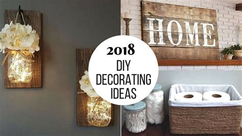 2018 diy home decorating projects to try
