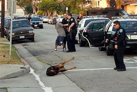 cop shoots hawthorne shoot rosby s rottweiler max dead vid