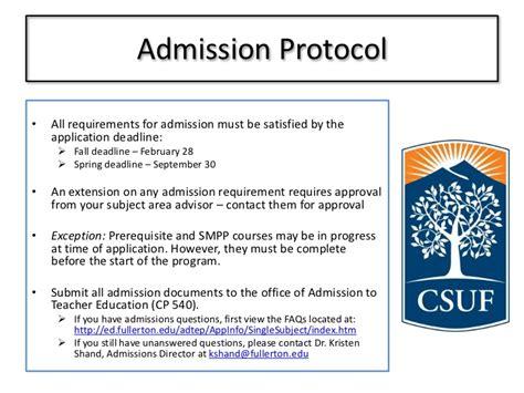 Csu Fullerton Mba Faq by Csuf Single Subject Credential Program Admissions