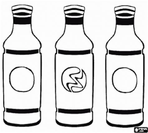 coloring page water bottle three bottles of drinks clipart panda free clipart images