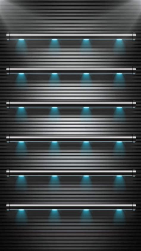 tap     app shelves stylish black lights