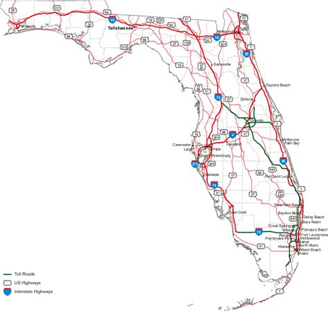 road map florida usa map of florida state map of usa united states maps