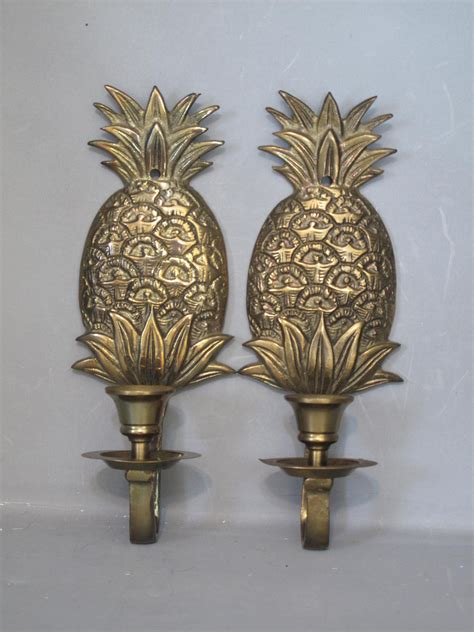 Pineapple Wall Sconce Vintage Brass Pineapple Wall Sconce Set 2 Pine By Milkacervenka